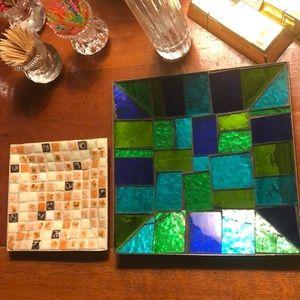 Mid century mosaic dishes/ mad men